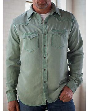 Ryan Michael Men's Sage Silk Linen Pick Stitch Shirt, Sage, hi-res