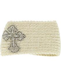 Shyanne® Women's Cross Studded Ear Warmer, , hi-res