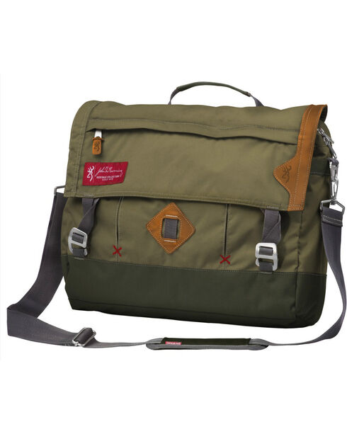 Browning Heritage Boone Messenger Bag Green, Green, hi-res