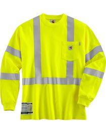 Carhartt Men's Flame Resistant High Visibility Work Shirt, , hi-res