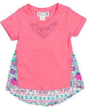 Shyanne® Toddler Floral Back T-Shirt, Coral, hi-res