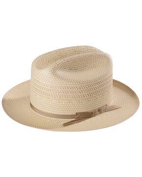 Stetson Men's Natural Open Road 3 Straw Hat , Tan, hi-res