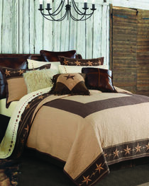 HiEnd Accents Brown Star Ranch Quilt Set - Twin, , hi-res