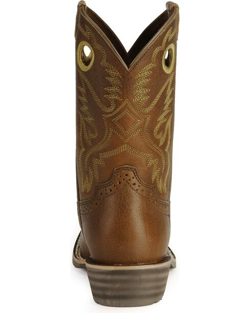 Ariat Kid's Rough Stock Western Boots, Brown, hi-res