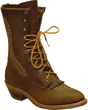 "Abilene Men's 12"" Western Packer Boots - Soft Round Toe, Brown, hi-res"
