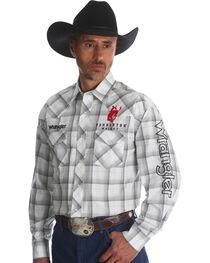 Wrangler Men's Plaid Logo Long Sleeve Shirt - Tall, , hi-res