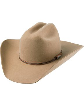 Tony Lama Low Rodeo Pecan 3X Wool Cowboy Hat, Pecan, hi-res