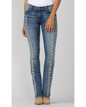 MM Vintage Women's Indigo Eliza Jeans - Boot Cut, Indigo, hi-res