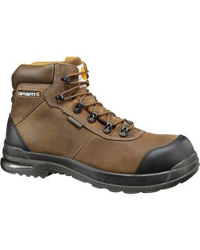 "Carhartt 6"" Stomp Light Bal Waterproof Work Boots, Chocolate, hi-res"