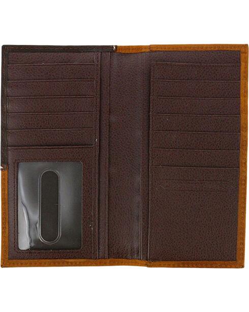 Cody James® Men's Tooled Cross Concho Rodeo Wallet, Brown, hi-res