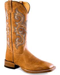Old West Men's Golden Tan Western Boots - Square Toe , , hi-res