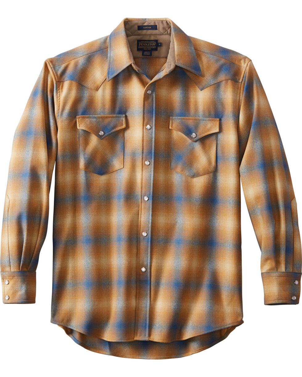 Pendleton Men's Tan Canyon Plaid Shirt , Tan, hi-res