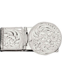 Montana Silversmiths Silver Engraved Western Money Clip, , hi-res