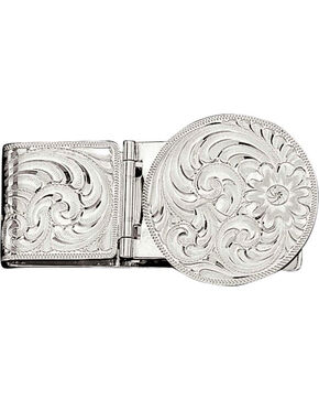 Montana Silversmiths Silver Engraved Western Money Clip, No Color, hi-res