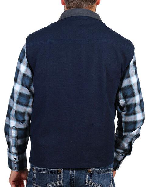 American Worker® Men's Fleece Lined Canvas Vest, Navy, hi-res