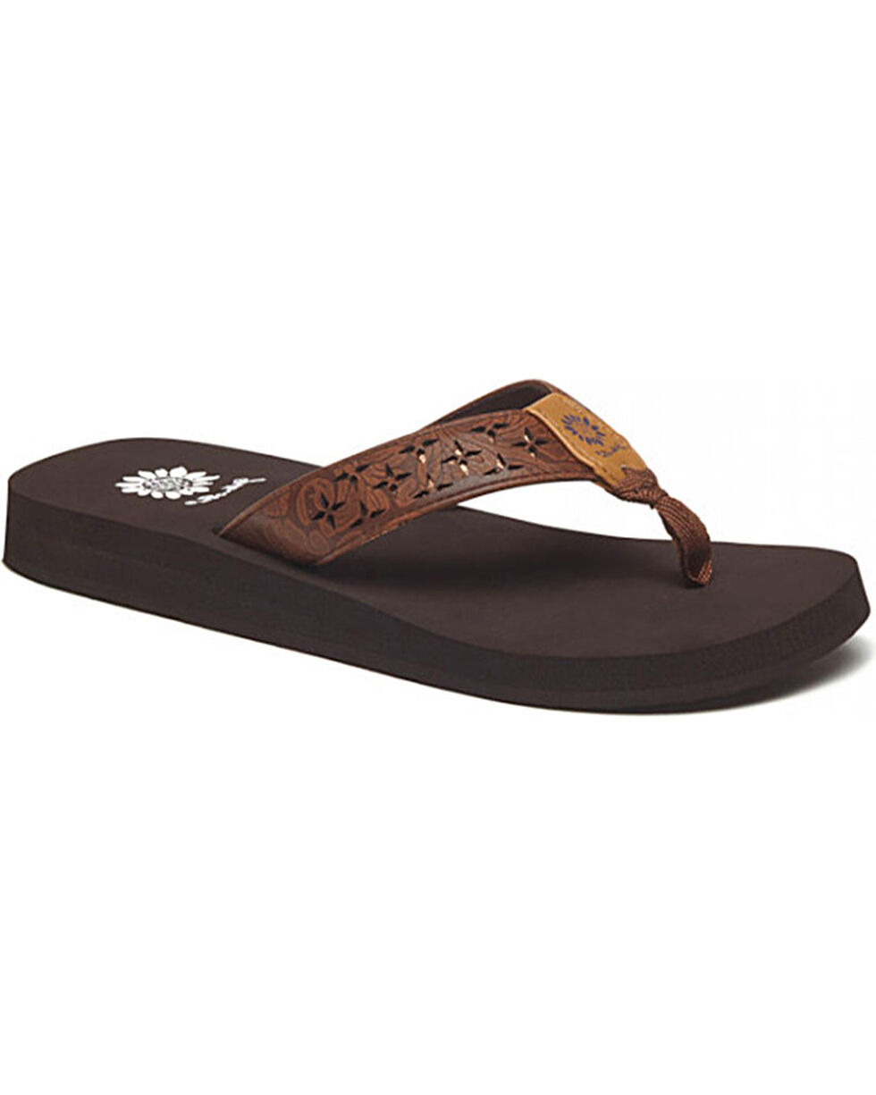 Yellow Box Women's Benji Sandals, Dark Brown, hi-res