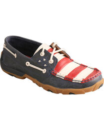 Twisted X Women's VFW Red White & Blue Moc Toe Driving Shoes, , hi-res