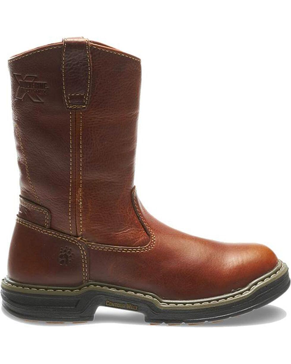 Wolverine Men's Raider Contour Welt Wellington Work Boots, Brown, hi-res