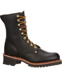 """Georgia Men's 8"""" Steel Toe Logger Boots, , hi-res"""