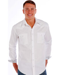 Rough Stock by Panhandle Slim Men's White Grivola Vintage Jacquard Shirt , , hi-res