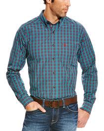 Ariat Men's Blue Avinger Long Sleeve Western Shirt , , hi-res