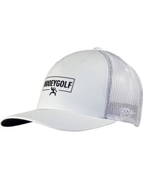 Hooey Men's Wedge Five Panel Flexfit Baseball Cap , White, hi-res
