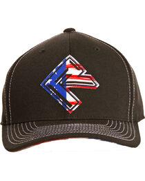 Rock & Roll Cowboy Men's Flag Screen Print Cap, , hi-res