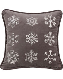 HiEnd Accents Whistler Snowflake Throw Pillow, , hi-res