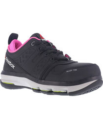 Reebok Women's Athletic Oxford DMX Flex Work Shoes - Alloy Toe , , hi-res