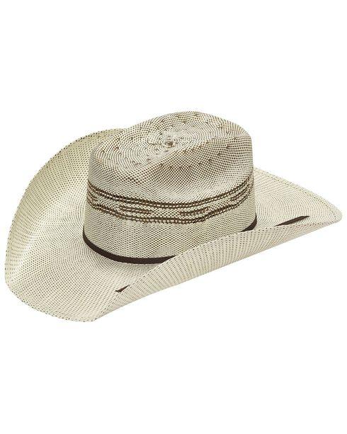 Twister Kids' Brown Bangora Straw Cowboy Hat, Brown, hi-res