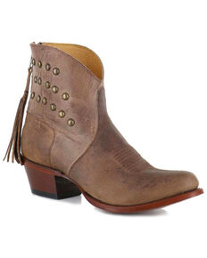 shyanne womens stud fashion booties brown hi res