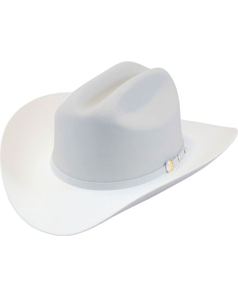 Larry Mahan Men's Platinum The Dos Banderas 6X Cowboy Hat , Grey, hi-res
