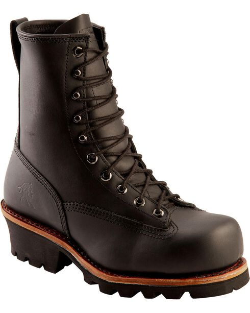 Chippewa Men's Rugged Outdoor Composite Toe Logger Boots, Black, hi-res
