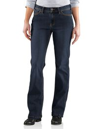 Carhartt Women's Original Fit Dark Indigo Jasper Jeans, , hi-res
