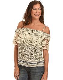 Ces Femme Women's Crochet Pattern Tank , , hi-res