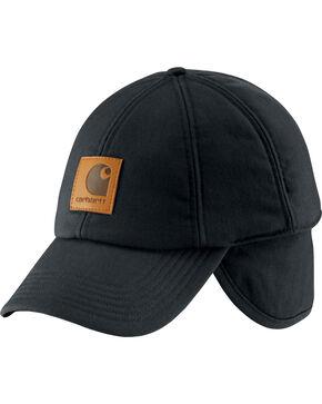 Carhartt Men's WorkFlex Ear Flap Cap, Black, hi-res