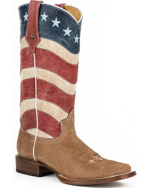 Roper Women's Vintage American Flag Western Boots, Multi, hi-res