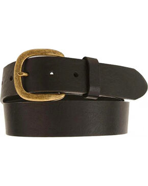 Justin Men's Leather Work Belt, Black, hi-res