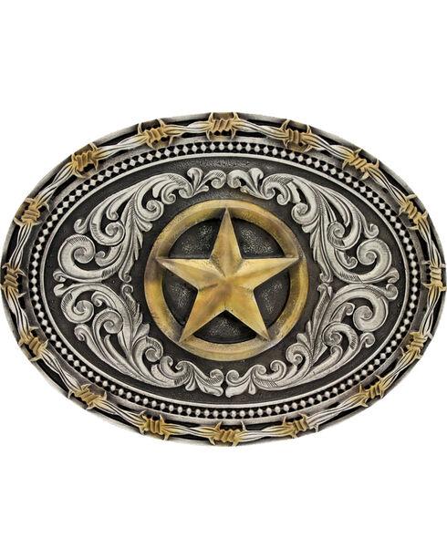 Montana Silversmiths Men's Lone Star Attitude Buckle, Multi, hi-res
