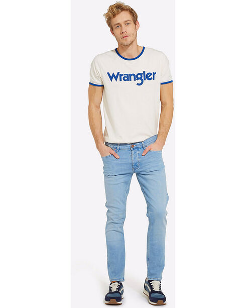Wrangler Men's 70th Anniversary Kabel Logo Ringer Tee , White, hi-res