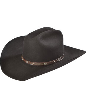 Larry Mahan Men's 3X Granger Cowboy Hat, Black, hi-res