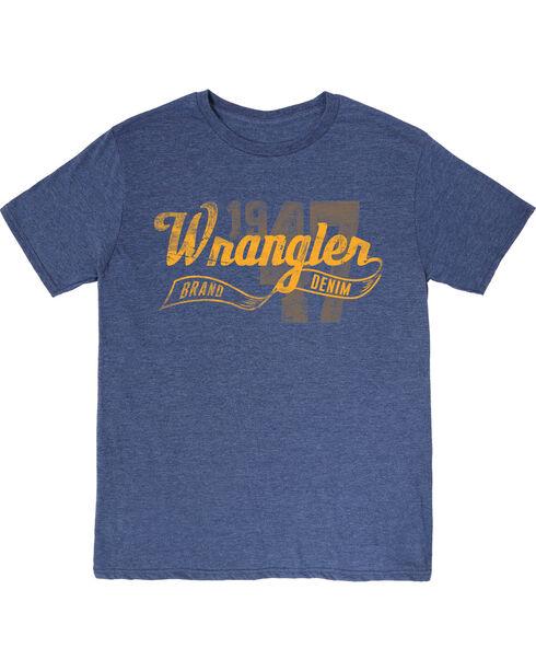Wrangler Men's 1947  Short Sleeve Tee, Blue, hi-res