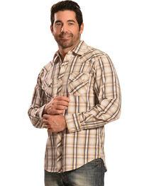 Ely Cattleman Men's 1878 Dobby Plaid Long Sleeve Snap Shirt, , hi-res