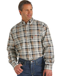 Cinch WRX Flame-Resistant Brown Plaid Shirt, , hi-res