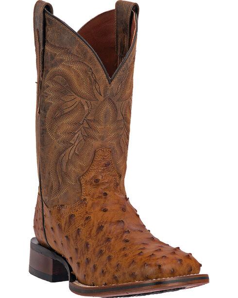 Dan Post Alamosa Men's Alamosal Ostrich Exotic Western Boots, Saddle Tan, hi-res