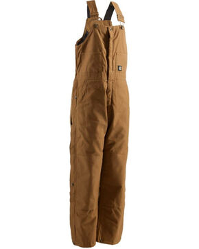 Berne Men's Brown Deluxe Insulated Bib Overalls , Brown, hi-res