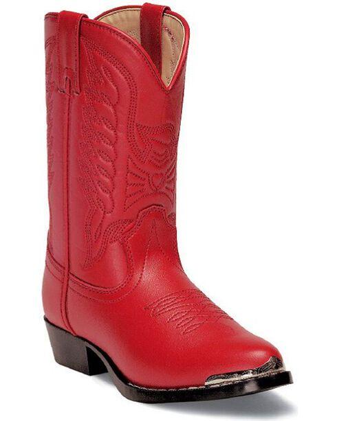 Durango Children's Western Boots, Red, hi-res