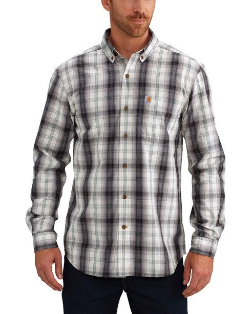 Carhartt Men's Black Essential Plaid Button Down Long Sleeve Shirt - Tall, , hi-res