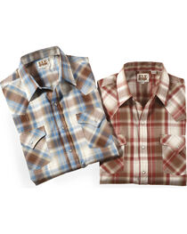 Ely Cattleman Men's Assorted Lurex Plaid Shirt , , hi-res