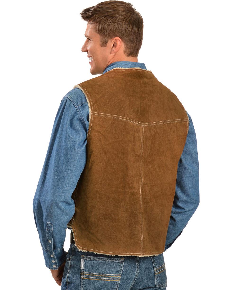 Scully Men's Boar Suede Hunting Vest, Brown, hi-res